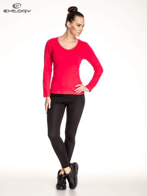 Różowa bluzka sportowa basic PLUS SIZE                                  zdj.                                  2