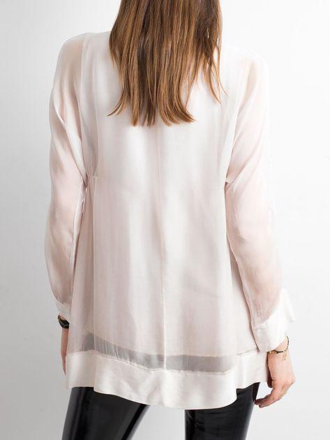 Różowa bluzka z wiązaniem                              zdj.                              2