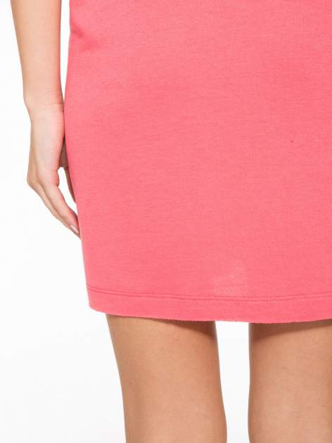 Różowa bluzosukienka z nadrukiem NYC                                  zdj.                                  12