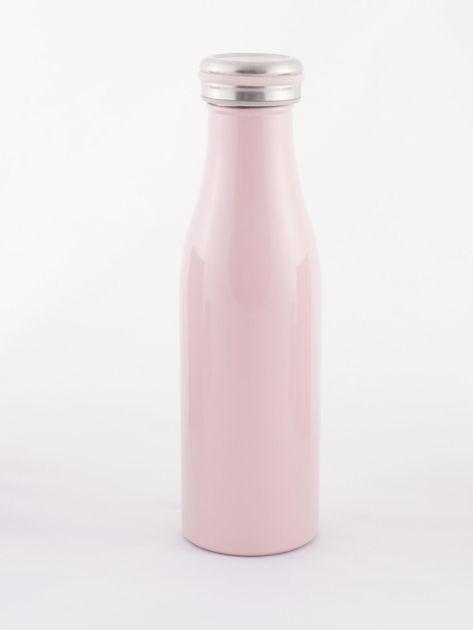 Różowa butelka termos z zakrętką                               zdj.                              3