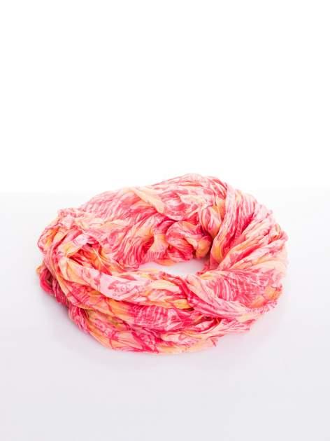 Różowa chusta z palmowym motywem                                   zdj.                                  2