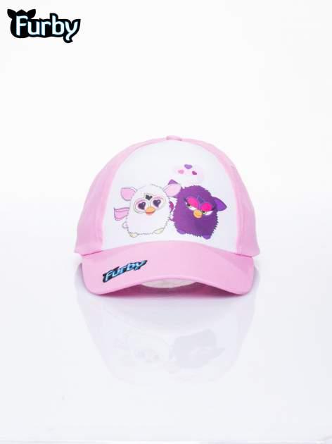 Różowa czapka z daszkiem dla dziewczynki FURBY