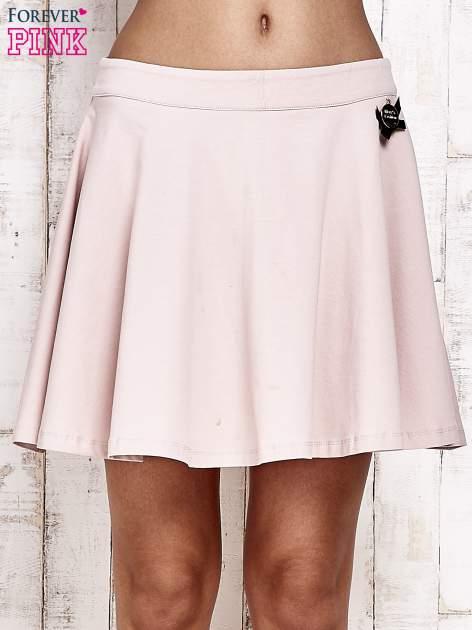 Różowa dresowa spódnica szyta z koła                                  zdj.                                  1