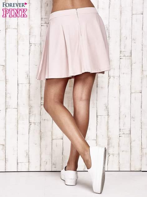 Różowa dresowa spódnica szyta z koła                                  zdj.                                  4
