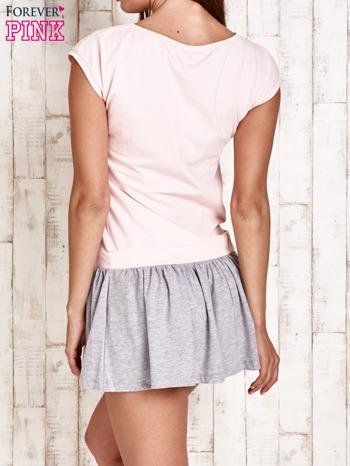 Różowa dresowa sukienka tenisowa z sercem                                  zdj.                                  2