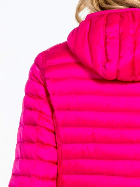 Różowa dwustronna lekka kurtka puchowa                                  zdj.                                  8