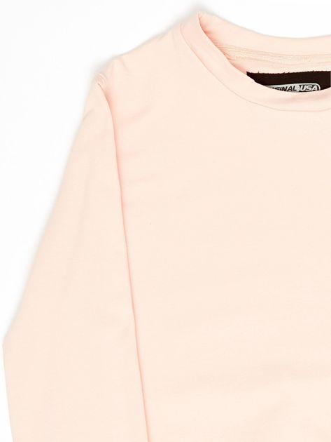 Różowa bluza młodzieżowa                              zdj.                              3