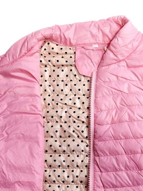 Różowa lekka kurtka puchowa                                  zdj.                                  6