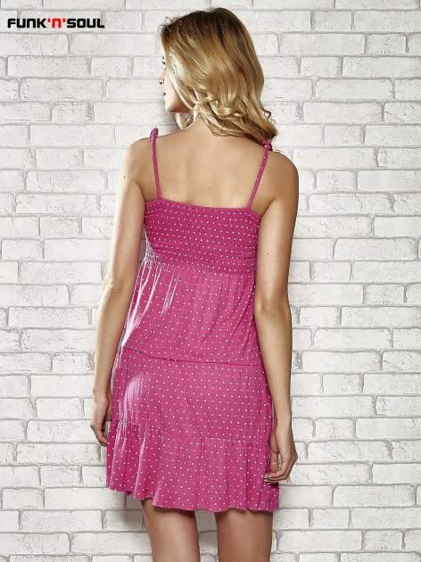 Różowa letnia sukienka w groszki Funk n Soul                                  zdj.                                  4