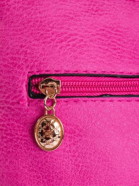 Różowa listonoszka z odpinanym paskiem                                  zdj.                                  4