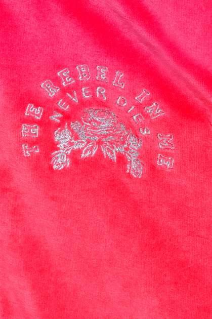 Różowa pluszowa bluza z kapturem zasuwana na suwak                                  zdj.                                  7