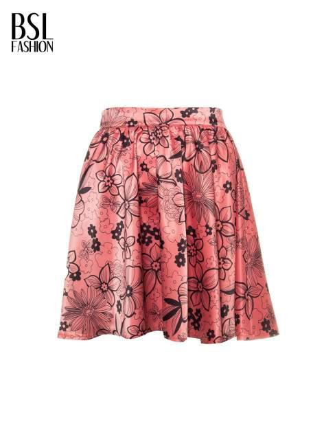 Różowa rozkloszowana spódnica skater w kwiaty                                  zdj.                                  5