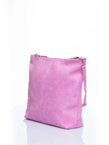 Różowa siateczkowa torba hobo                                  zdj.                                  4