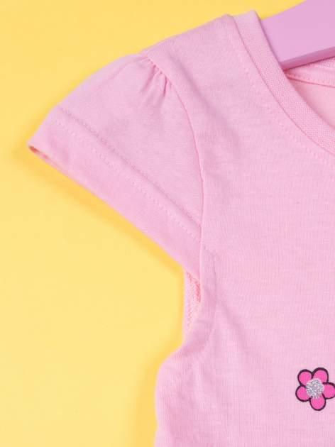 Różowa spódnica dla dziewczynki HELLO KITTY z kokardką                                  zdj.                                  3