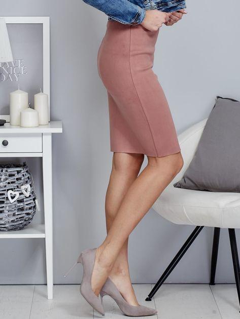 Różowa spódnica z imitacji zamszu                                  zdj.                                  5