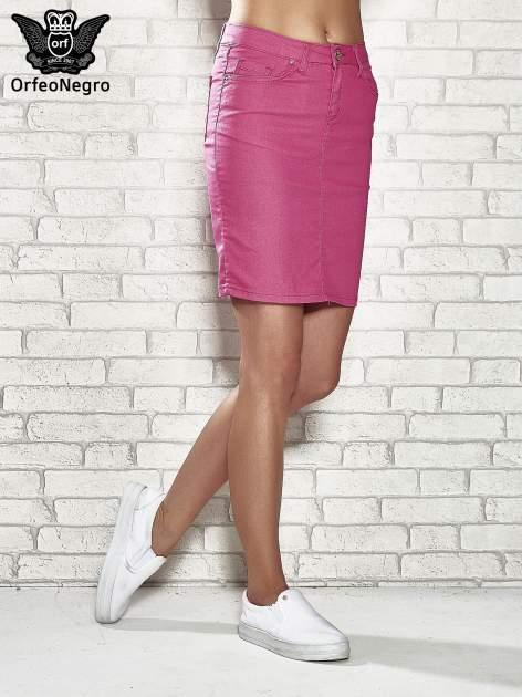Różowa spódnica z zapięciem na guzik                                  zdj.                                  1