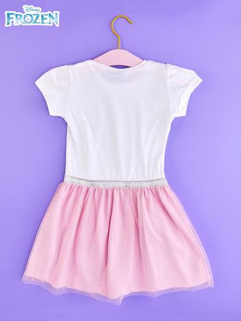 Różowa sukienka dla dziewczynki z brokatowym paskiem FROZEN                                  zdj.                                  2
