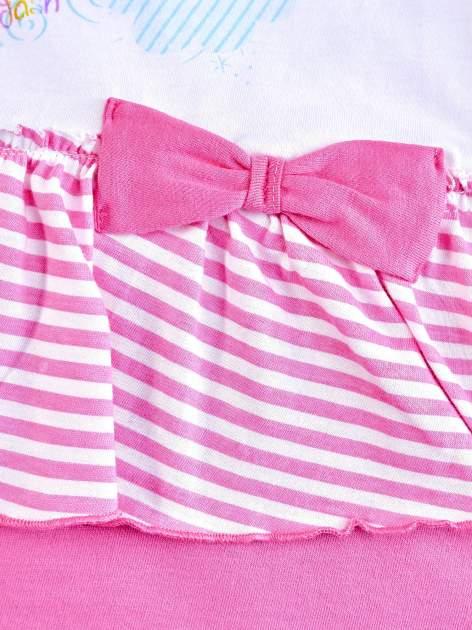 Różowa sukienka dla dziewczynki z kokardką i falbankami MY LITTLE PONY                                  zdj.                                  5