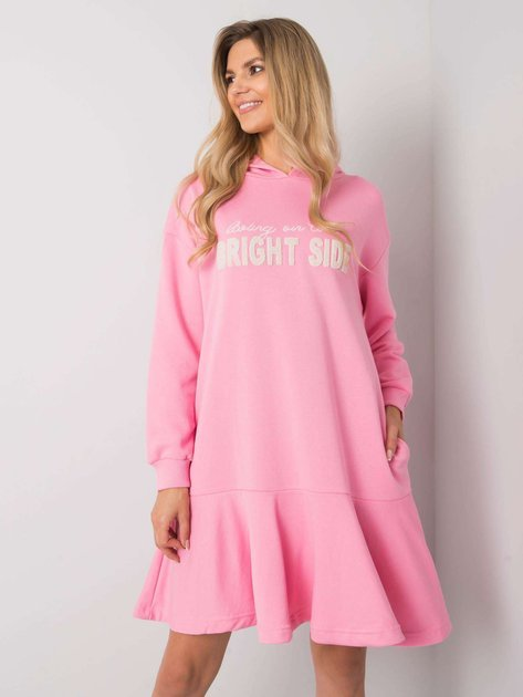 Różowa sukienka dresowa Sherine