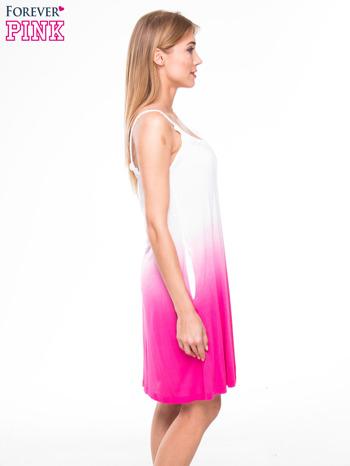 Różowa sukienka na ramiączka z efektem ombre                                  zdj.                                  2