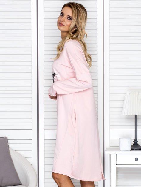 Różowa sukienka z gwiazdą                                   zdj.                                  5