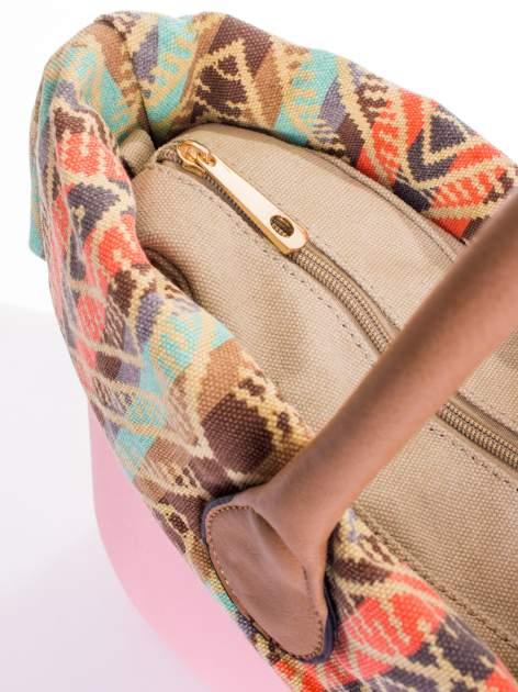 Różowa torba gumowa z motywem azteckim                                  zdj.                                  4
