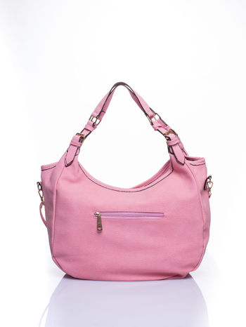 Różowa torba hobo z klamerkami                                  zdj.                                  4