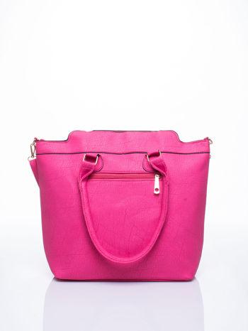 Różowa torba miejska z odpinanym paskiem                                  zdj.                                  3