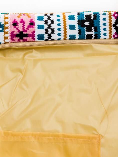 Różowa torba plażowa w azteckie wzory                                  zdj.                                  9