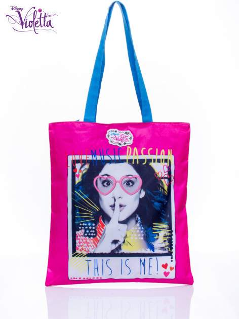 Różowa torba shopper bag dla dziewczynki DISNEY Violetta                                  zdj.                                  1
