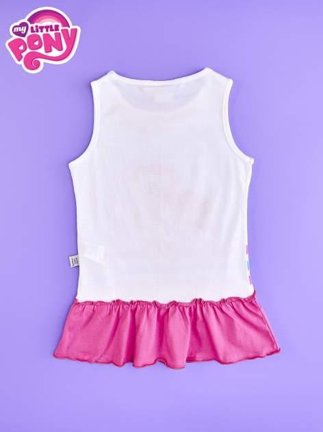 Różowa tunika dla dziewczynki z falbanką na dole MY LITTLE PONY                                  zdj.                                  2