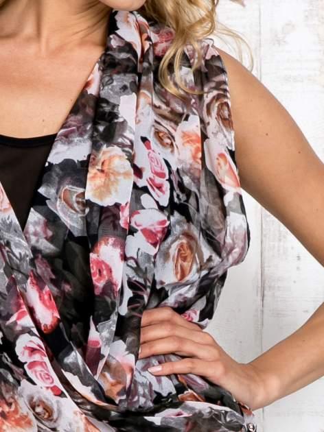Różowa warstwowa bluzka koszulowa w kwiaty                                  zdj.                                  5