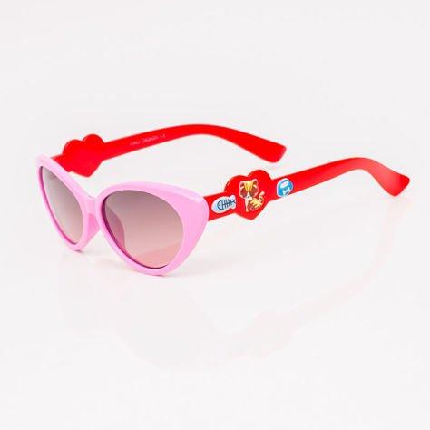 Różowe Dziecięce Okulary przeciwsłoneczne                              zdj.                              2