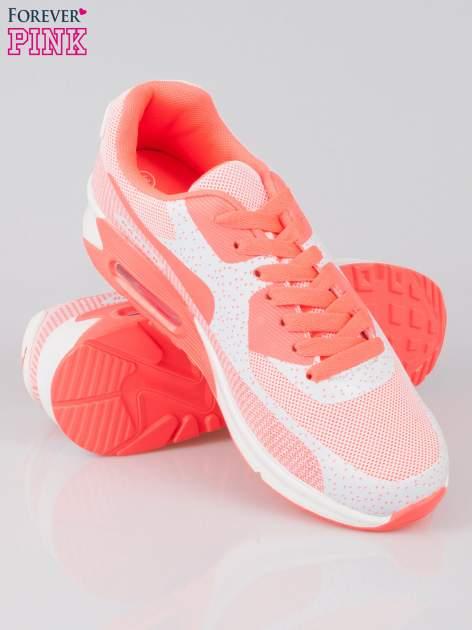 Różowe adidasy damskie na podeszwie z poduszką powietrzną                                  zdj.                                  4