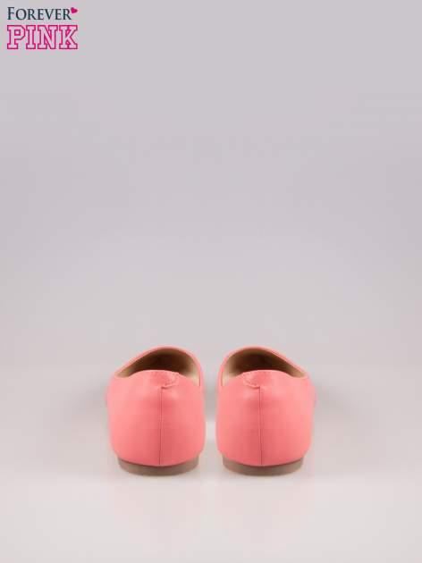 Różowe baleriny faux leather Cookie w szpic z wycięciem z boku                                  zdj.                                  3