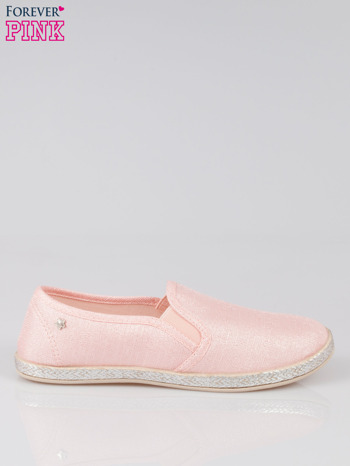 Różowe buty slip-on