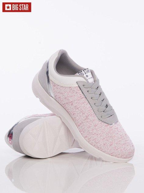 Różowe buty sportowe Big Star z lustrzaną wstawką nad piętą                              zdj.                              3