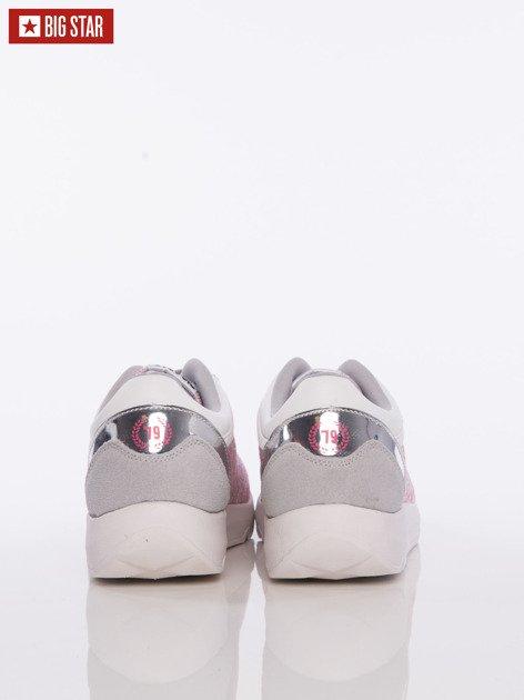 Różowe buty sportowe Big Star z lustrzaną wstawką nad piętą                              zdj.                              4