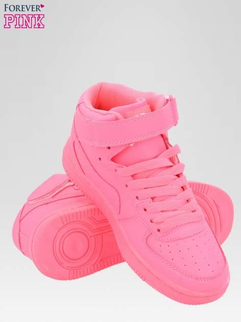 Różowe buty sportowe Heather za kostkę na grubej podeszwie                                  zdj.                                  4
