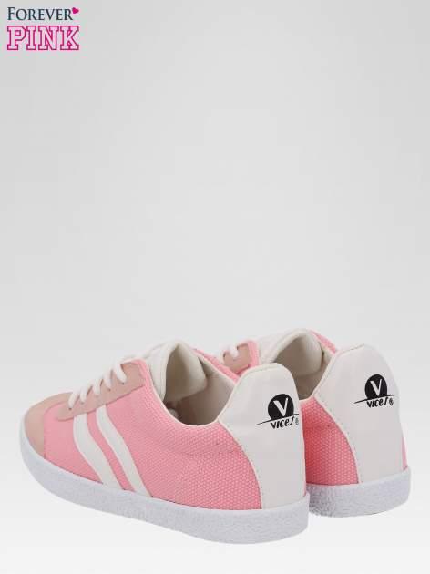 Różowe buty sportowe faux leather Cupcake w stylu casual                                  zdj.                                  3