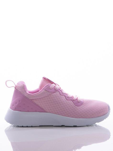 Różowe buty sportowe na sprężystej podeszwie z ciemniejszą wstawką na pięcie                              zdj.                              1