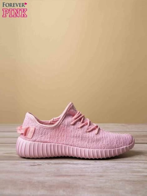 Różowe buty sportowe z tkaniny textile Be Active z uchwytem z tyłu                                  zdj.                                  2