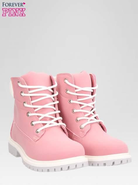 Różowe buty trekkingowe damskie traperki Shimmy                                  zdj.                                  2