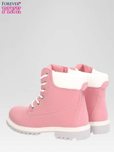 Różowe buty trekkingowe damskie traperki Shimmy                                  zdj.                                  5