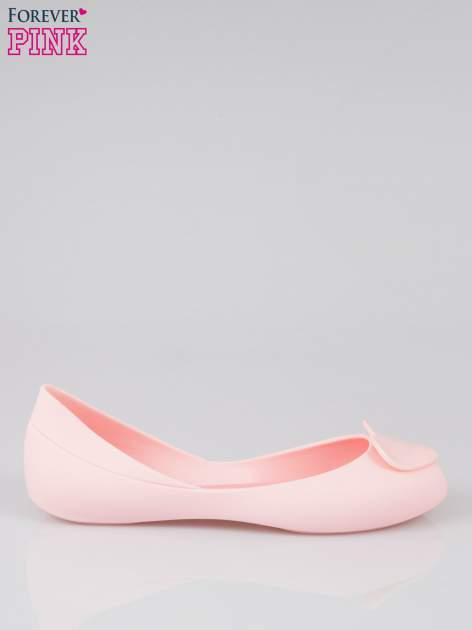Różowe gumowe baleriny meliski z sercem