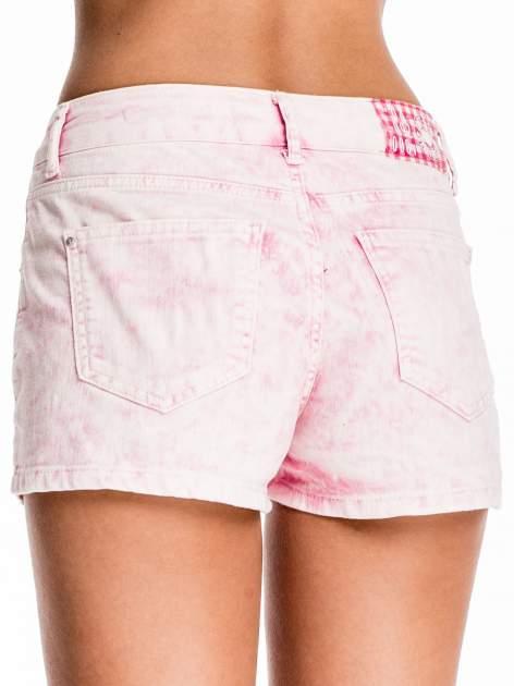 Różowe jeansowe szorty                                  zdj.                                  2