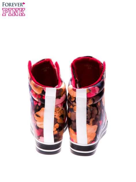 Różowe kwiatowe sneakersy                                  zdj.                                  3