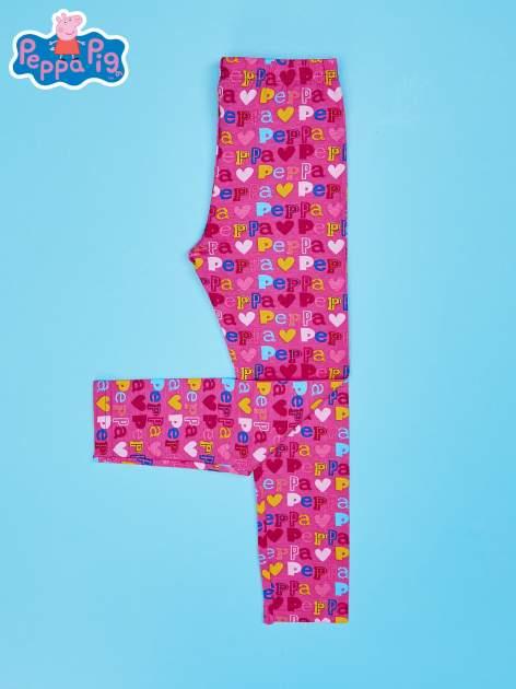 Różowe legginsy dla dziewczynki ŚWINKA PEPPA                                  zdj.                                  2