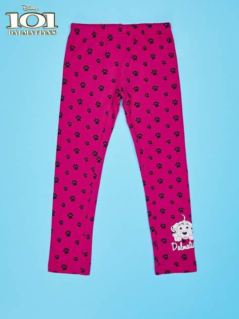 Różowe legginsy dla dziewczynki motyw 101 DALMATYŃCZYKÓW                                  zdj.                                  1