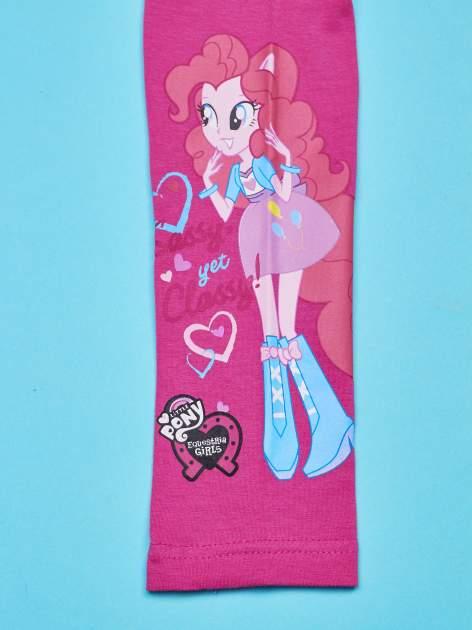 Różowe legginsy dla dziewczynki motyw MY LITTLE PONY                                  zdj.                                  4
